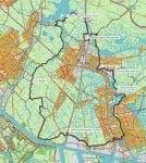 Langs de Zaan van Zaandam tot Alkmaardermeer, Kaart fietsroute