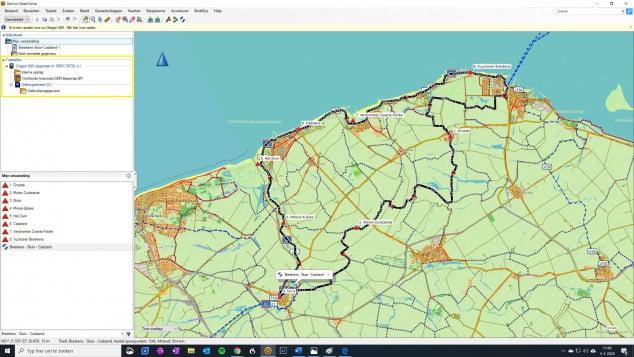 27. De Garmin GPS zichtbaar in Basecamp 1