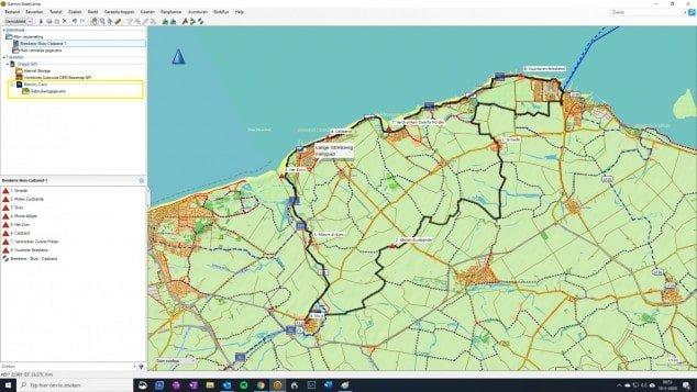 34. Verzenden route BaseCamp naar Garmin GPS geheugenkaart opgeslagen