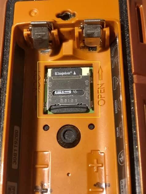 Micro SD in Garmin GPS 3