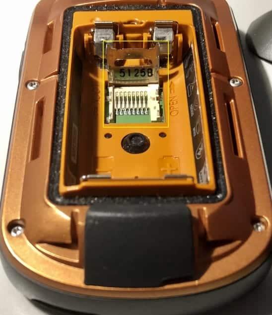Micro SD in Garmin GPS