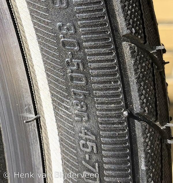 Maximale en minimale bandenspanning van de fietsband